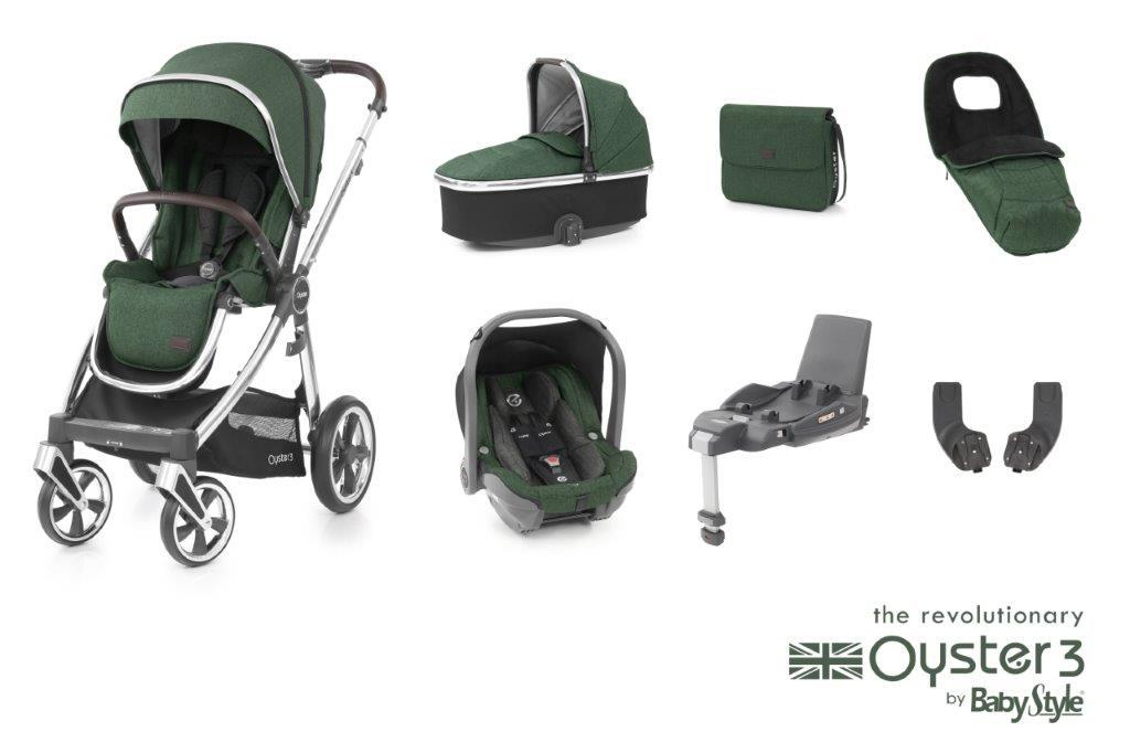 Bambinista-BABY STYLE-Travel-Oyster 3 Luxury Package (7 Piece) - Alpine Green