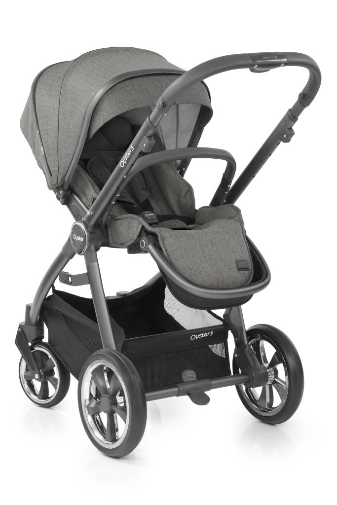 Bambinista-BABY STYLE-Travel-Oyster 3 Luxury Package (7 Piece) - Mercury (City Grey)
