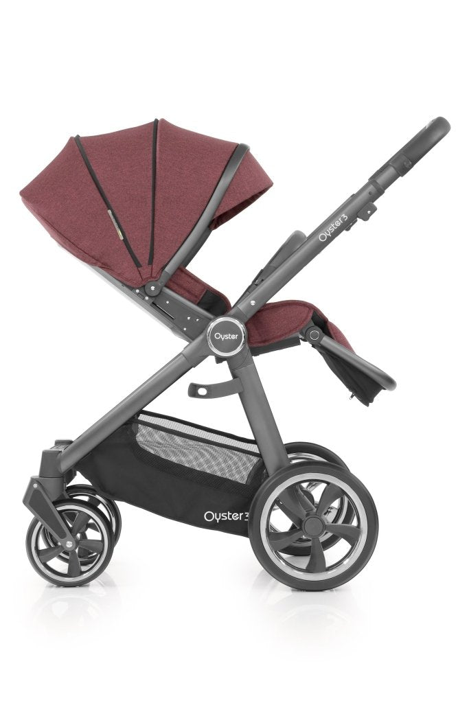 Bambinista-BABY STYLE-Travel-Oyster 3 Stroller - Berry (City Grey)