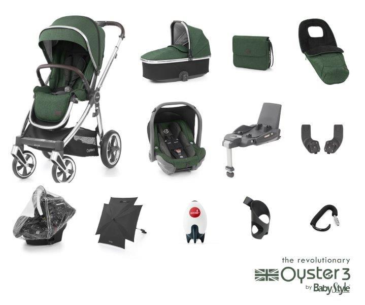 Bambinista-BABY STYLE-Travel-Oyster 3 Ultimate Package (12 Piece) - Alpine Green