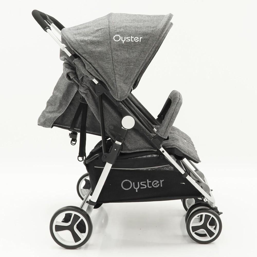 Bambinista-BABY STYLE-Travel-Oyster Twin Stroller - Mercury