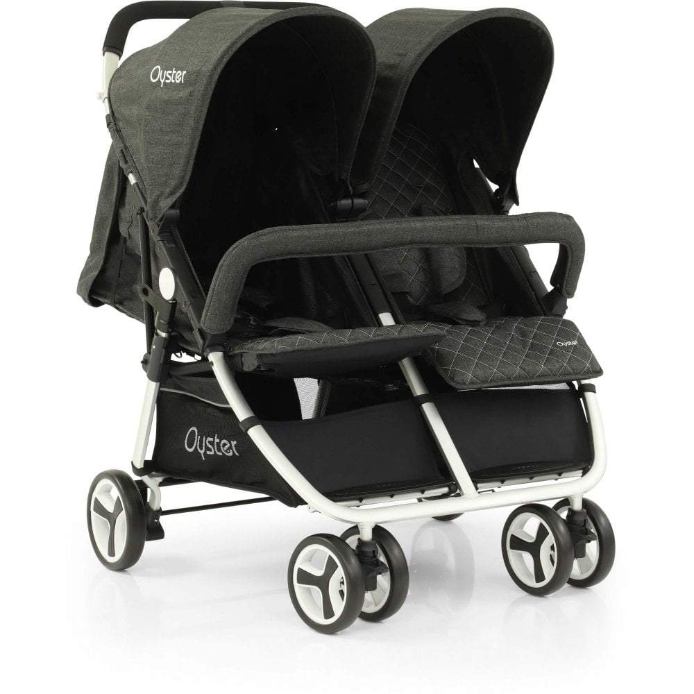 Bambinista-BABY STYLE-Travel-Oyster Twin Stroller - Pepper