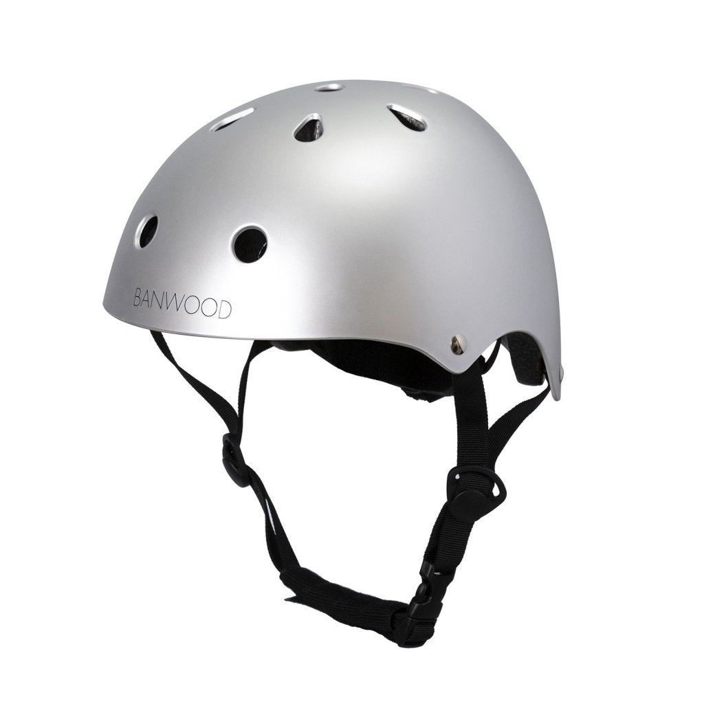Bambinista-BANWOOD-Toys-Bike Helmet Matte Chrome