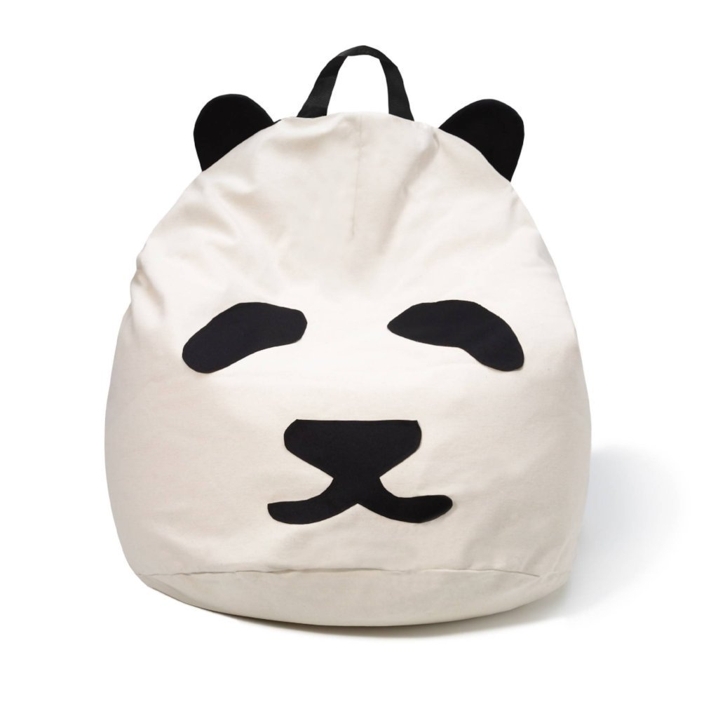 Bambinista-BINI-Furniture-Pouffe with Pandas Black Handle