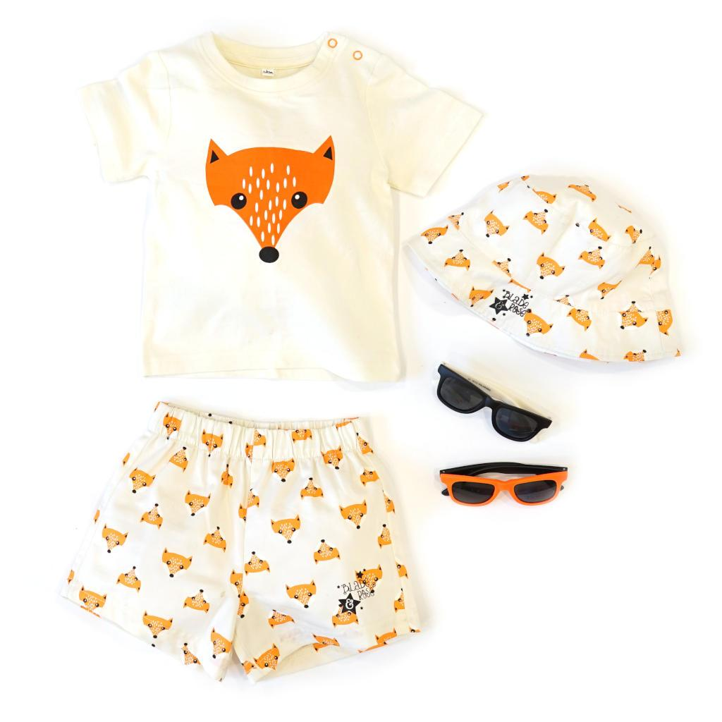 Bambinista-BLADE & ROSE-Bottoms-Fox Cotton Shorts