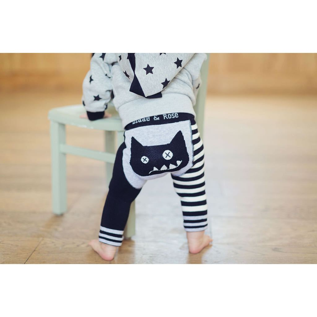 Bambinista-BLADE & ROSE-Bottoms-Leggings Crazy Cat