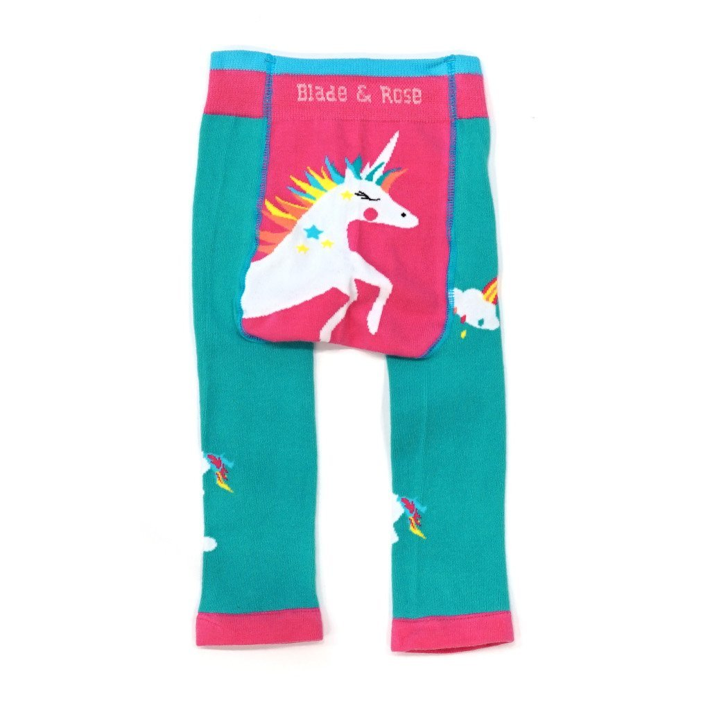 Bambinista-BLADE & ROSE-Bottoms-Leggings Flying Unicorn