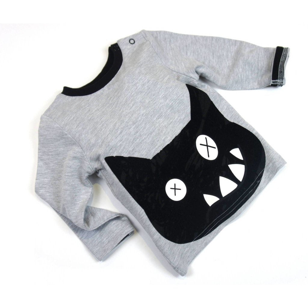 Bambinista-BLADE & ROSE-Tops-Long Sleeve T-Shirt Crazy Cat