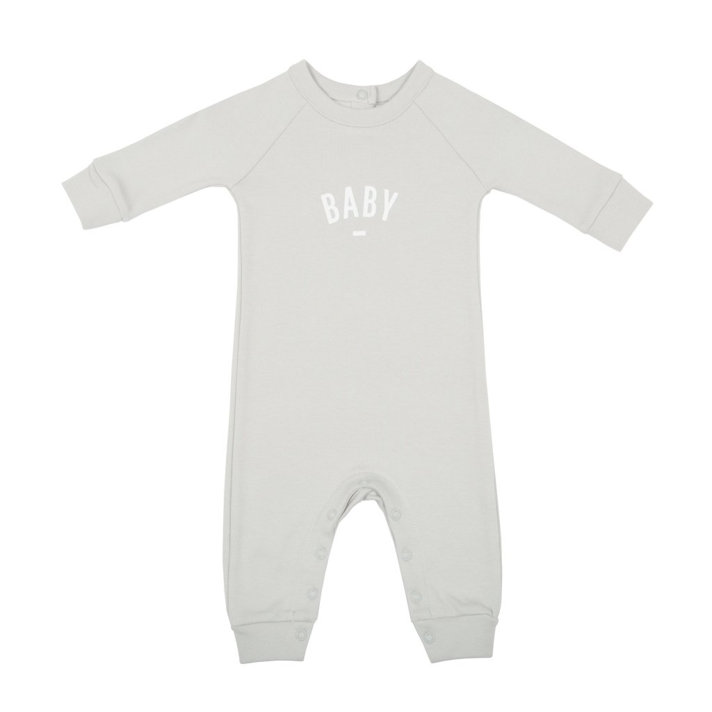 Bambinista-BOB & BLOSSOM-Rompers-'Baby' Baby Romper Mouse Grey