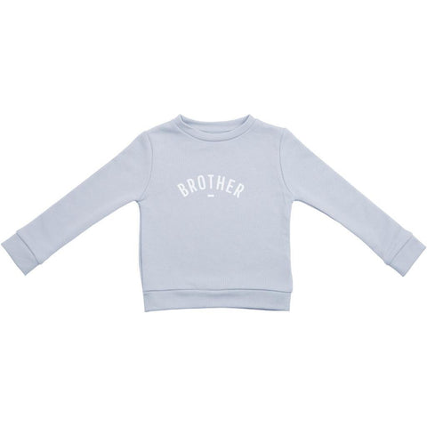 Bambinista-BOB & BLOSSOM-Tops-'Brother' Sweatshirt Mouse Grey