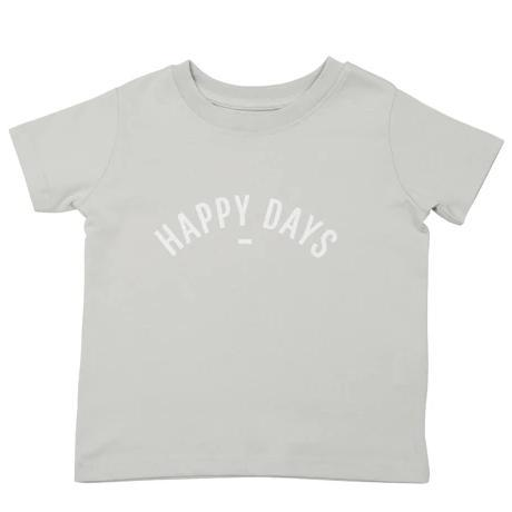 Bambinista-BOB & BLOSSOM-Tops-'Happy Days' T-Shirt Grey