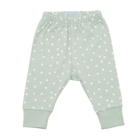 Bambinista-BOB & BLOSSOM-Bottoms-Leggings Moss Grey and White Spots