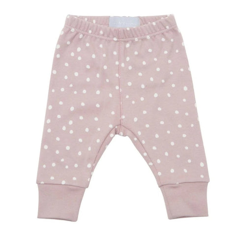 Bambinista-BOB & BLOSSOM-Bottoms-Leggings Old Rose and White Spots