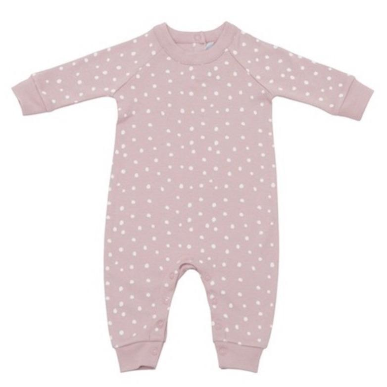 Bambinista-BOB & BLOSSOM-Rompers-Old Rose and White Spot Print All-In-One