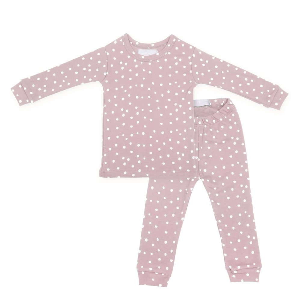 Bambinista-BOB & BLOSSOM-Pyjamas-Pyjamas Old Rose and White Spot