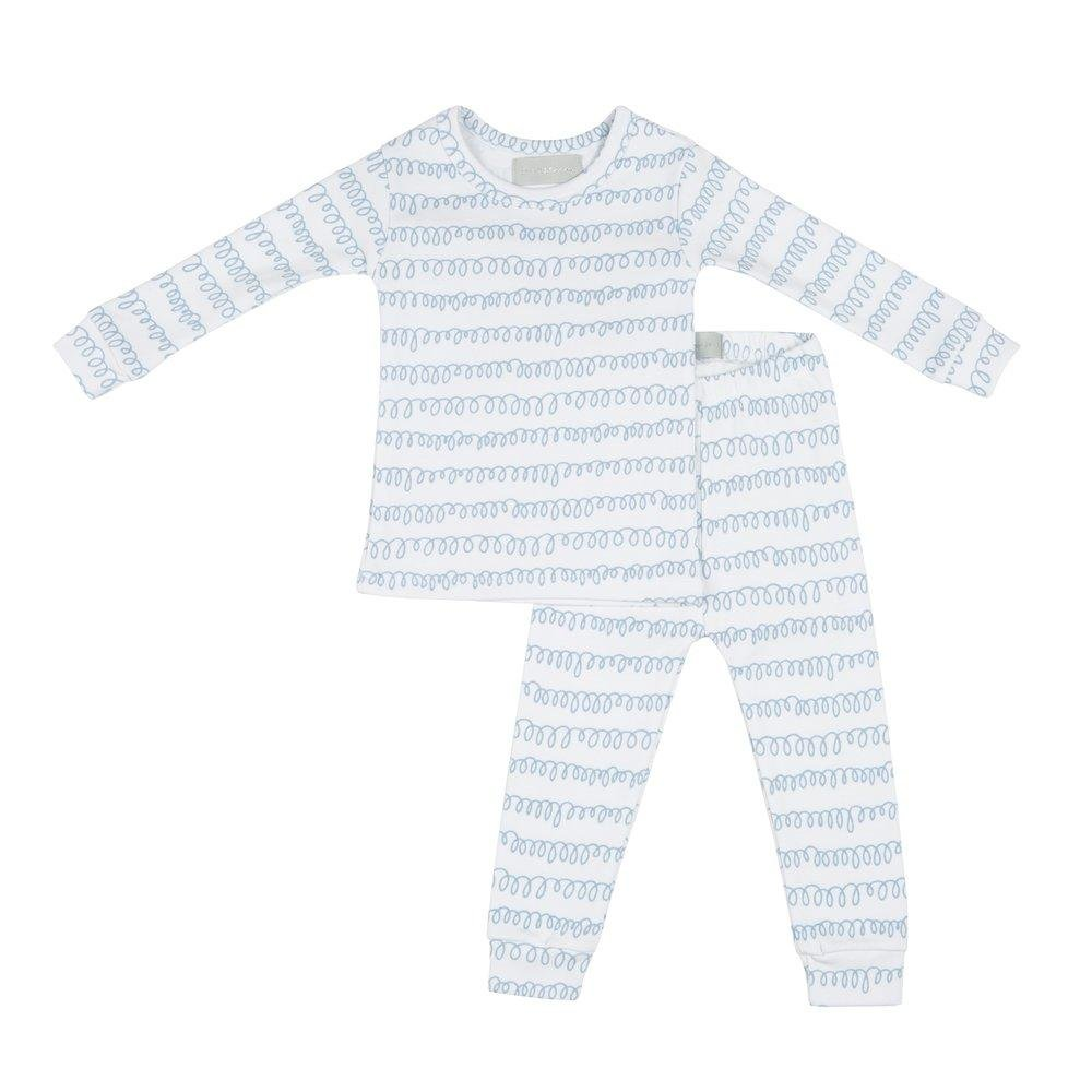 Bambinista-BOB & BLOSSOM-Pyjamas-Pyjamas White and Pebble Grey Squiggle Print