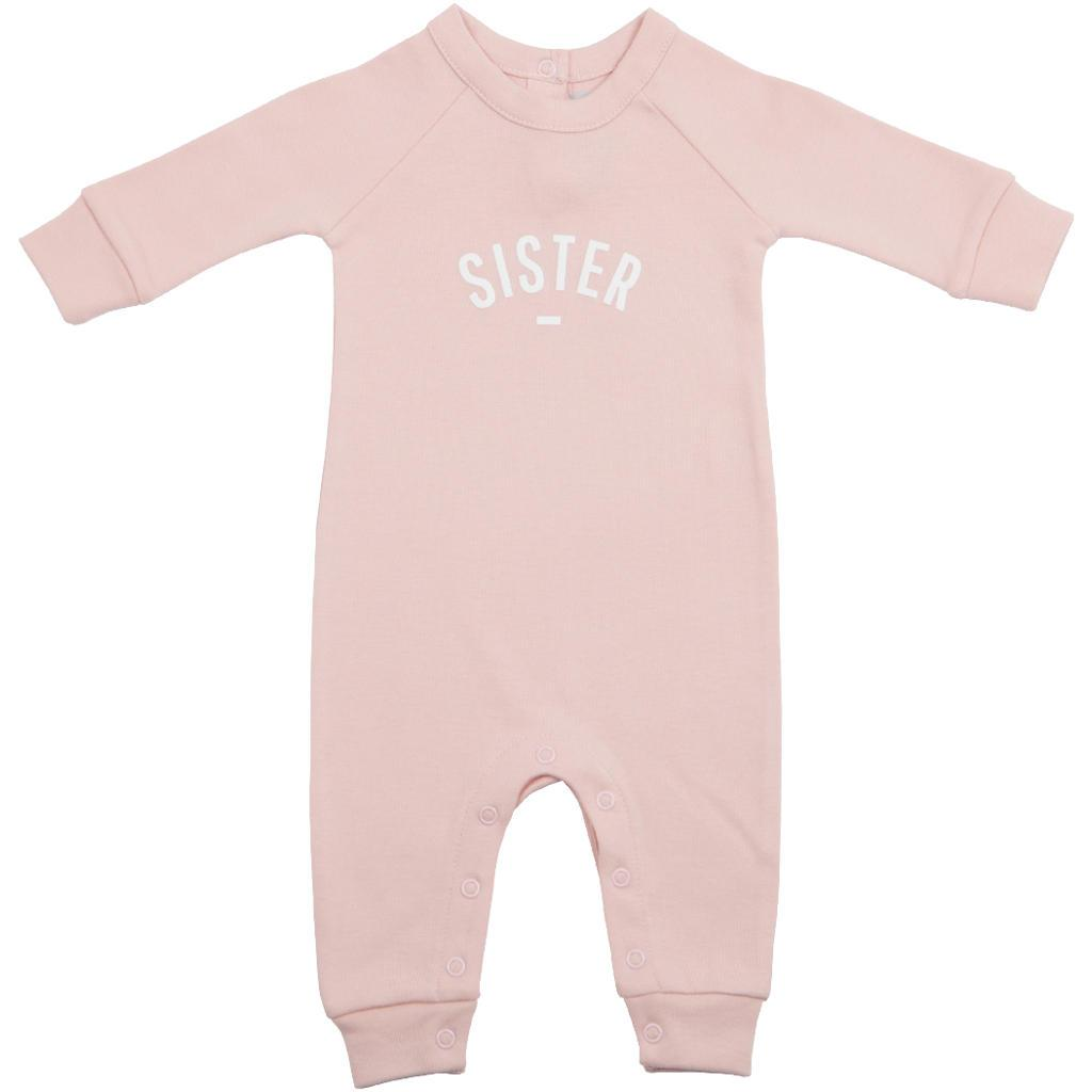 Bambinista-BOB & BLOSSOM-Rompers-'Sister' Baby Romper Blush Pink