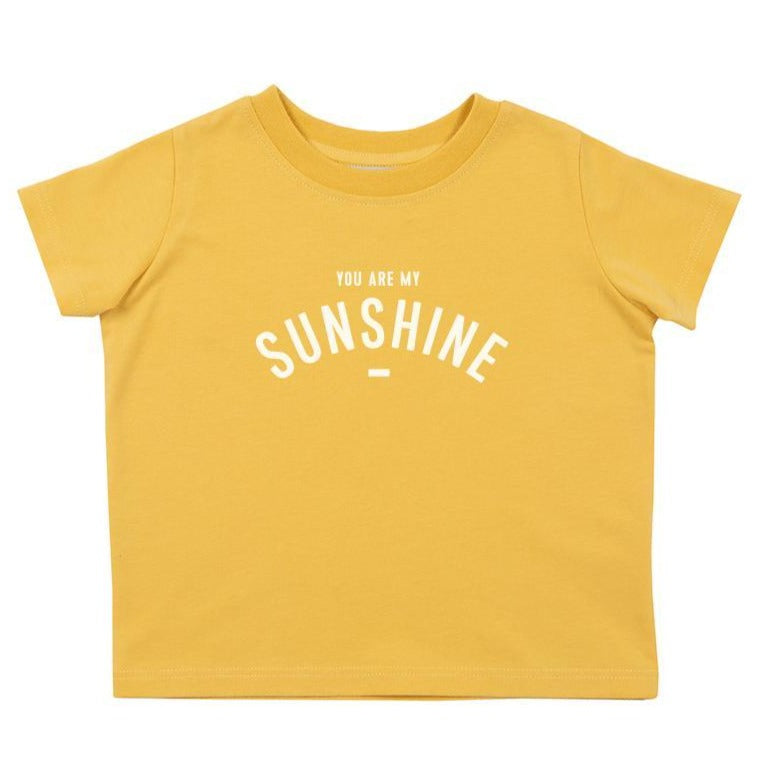 Bambinista-BOB & BLOSSOM-Tops-'You are my Sunshine' Short Sleeve T-Shirt Mustard Yellow