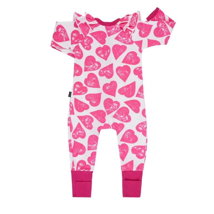 Bambinista-BONDS-Rompers-Bonds Frill Zip Wondersuit Pop Goes My Heart