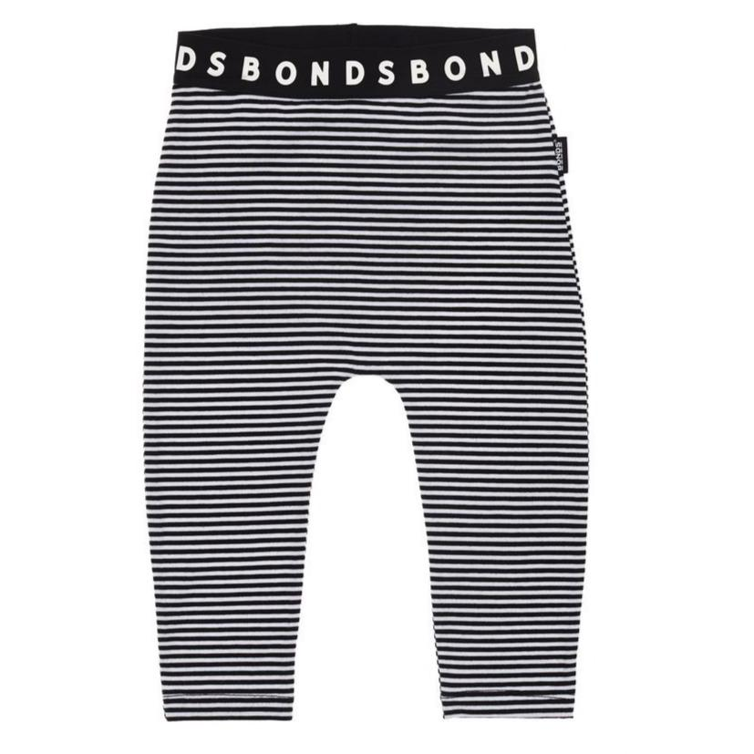Bambinista-BONDS-Bottoms-BONDS Leggings Black and White Stripe