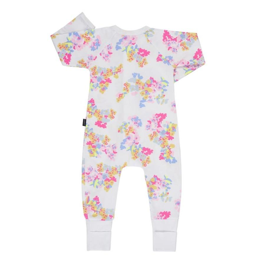 Bambinista-BONDS-Rompers-Bonds Zip Wondersuit Fleur Floral White