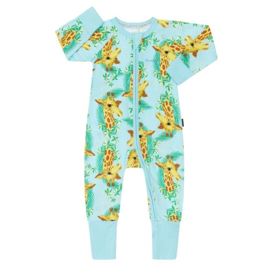 Bambinista-BONDS-Rompers-BONDS Zip Wondersuit George Giraffe Candy Blue