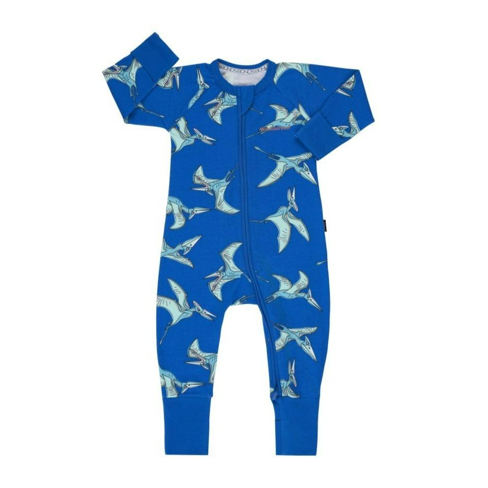 Bambinista-BONDS-Rompers-Bonds Zip Wondersuit Pterodactyl Blue