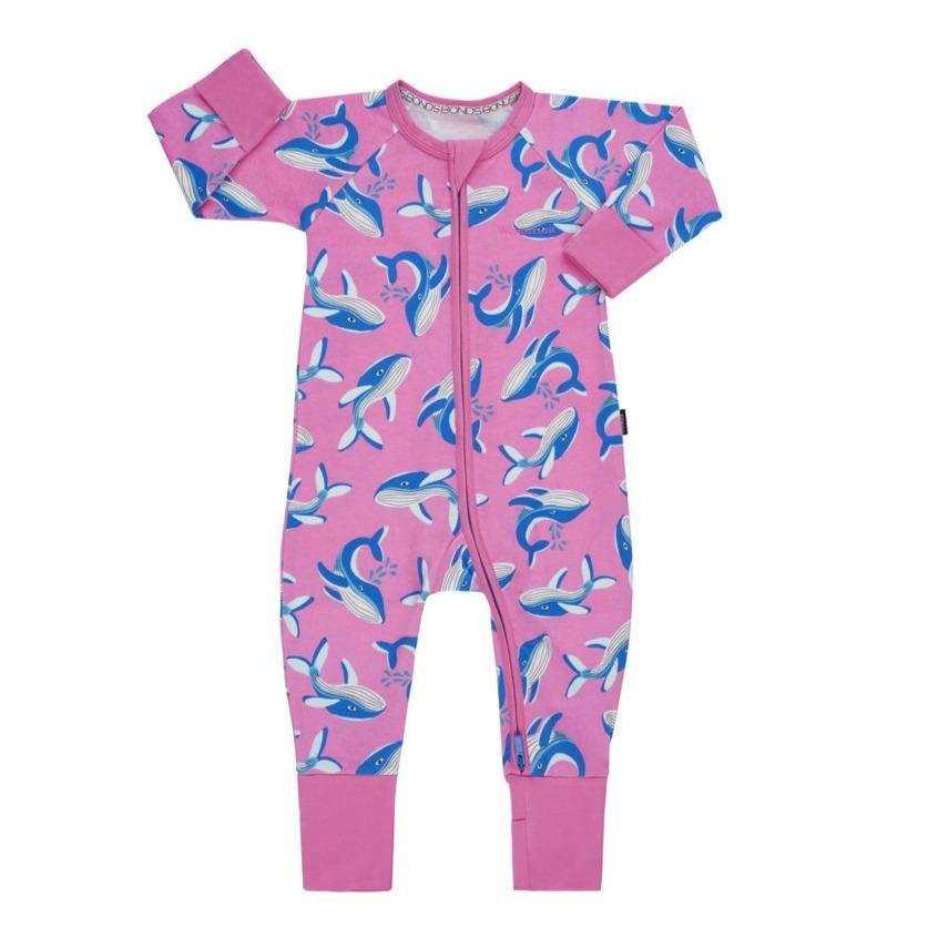 Bambinista-BONDS-Rompers-BONDS Zip Wondersuit Whale Tales Pink