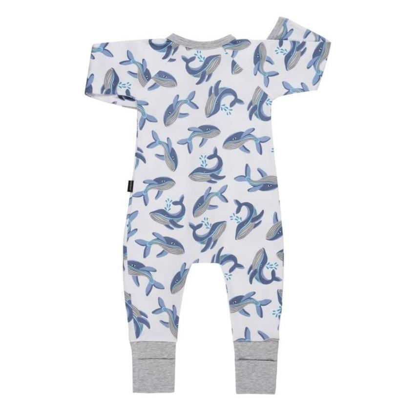 Bambinista-BONDS-Rompers-BONDS Zip Wondersuit Whale Tales White
