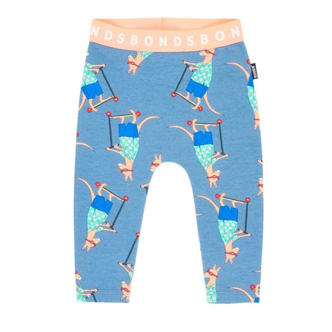 Bambinista-BONDS-Bottoms-Leggings Scooter Roo Ig Blue
