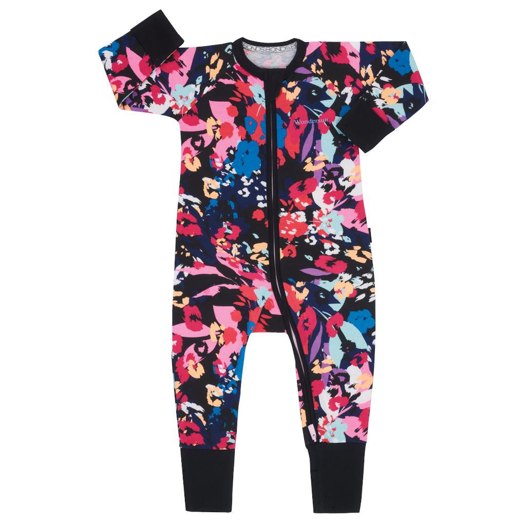 Bambinista-BONDS-Rompers-Zip Wondersuit Leopard Blooms