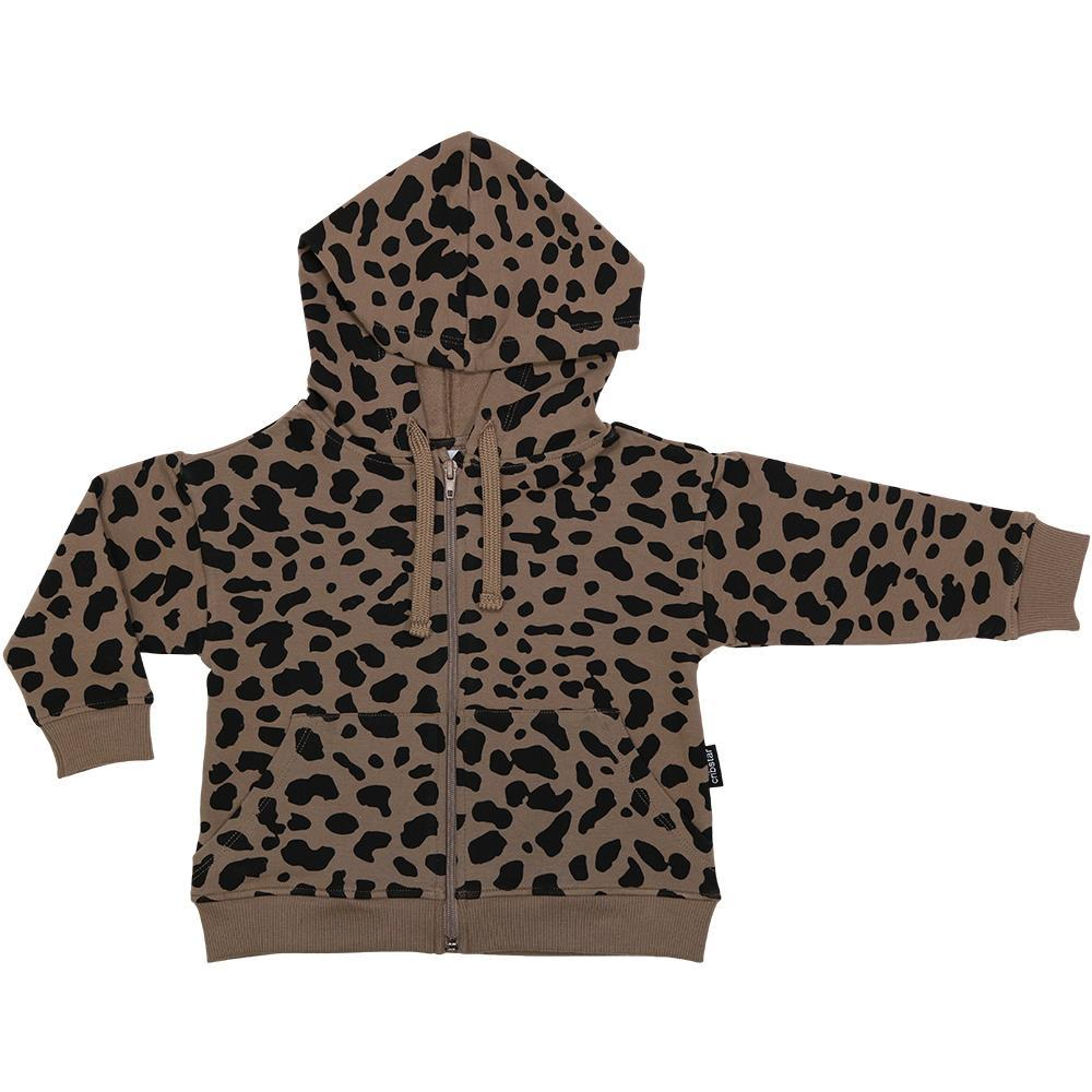 Bambinista-CRIBSTAR-Tops-Brown Spots Hoodie