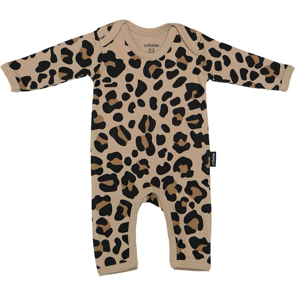 Bambinista-CRIBSTAR-Rompers-Leopard Print Baby Romper Beige