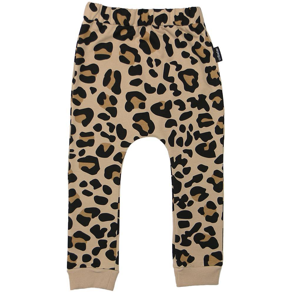 Bambinista-CRIBSTAR-Bottoms-Leopard Print Harem Leggings