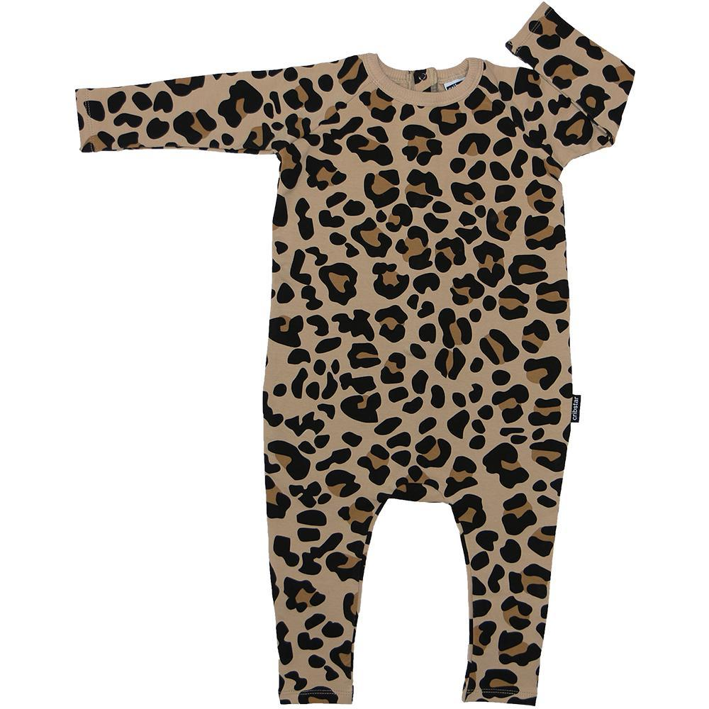 Bambinista-CRIBSTAR-Rompers-Leopard Print Long Sleeve Harem Romper