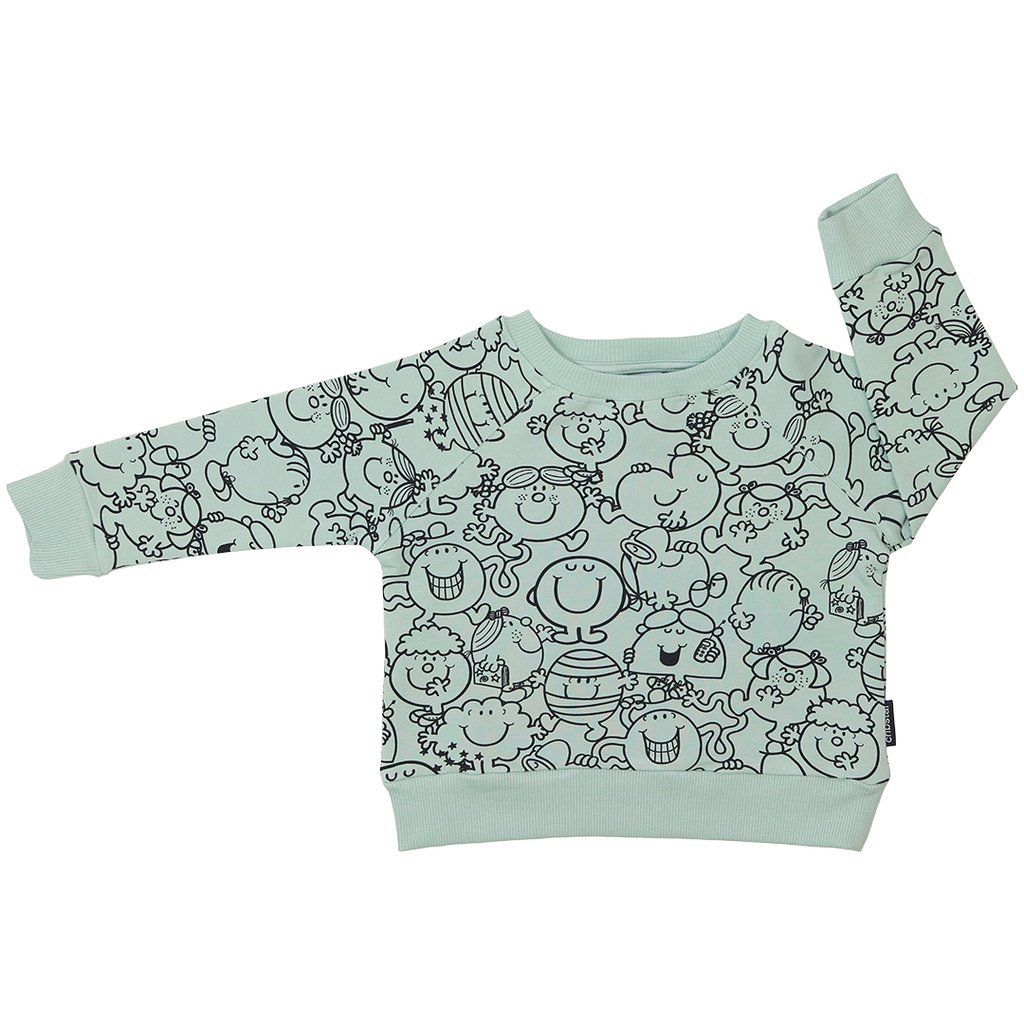 Bambinista-CRIBSTAR-Tops-Mr Men Little Miss Party Sweatshirt