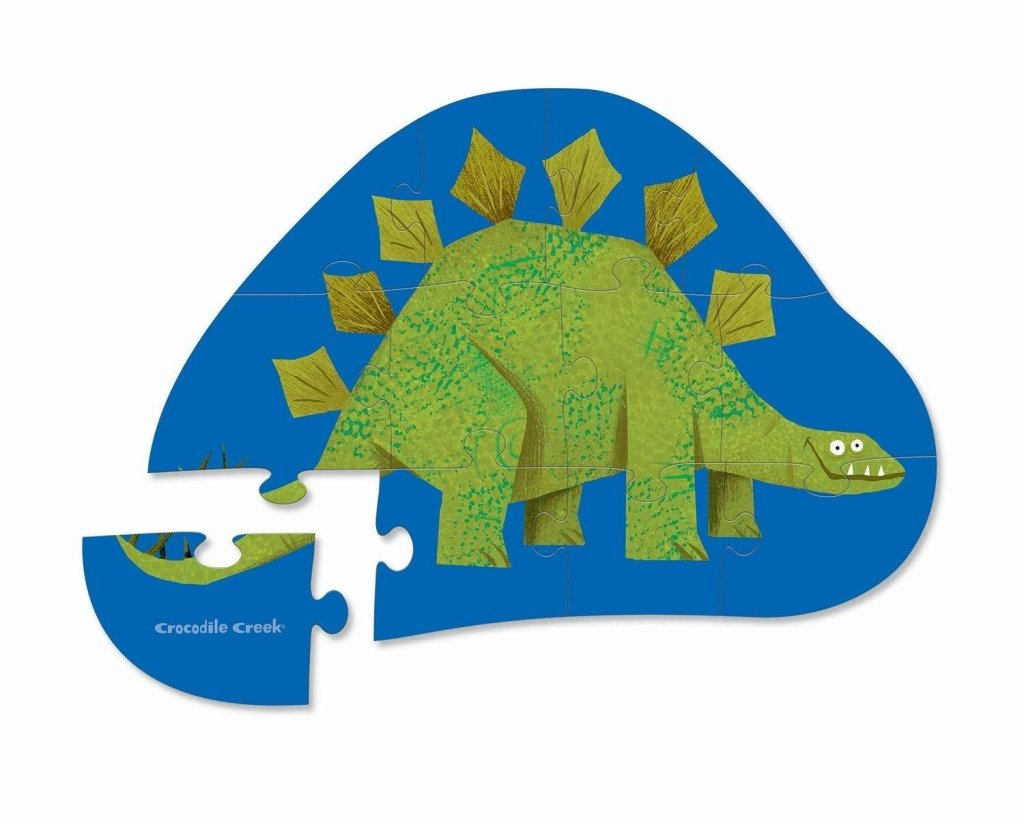 Bambinista-CROCODILE CREEK-Toys-12pc Mini Puzzle - Stegosaurus