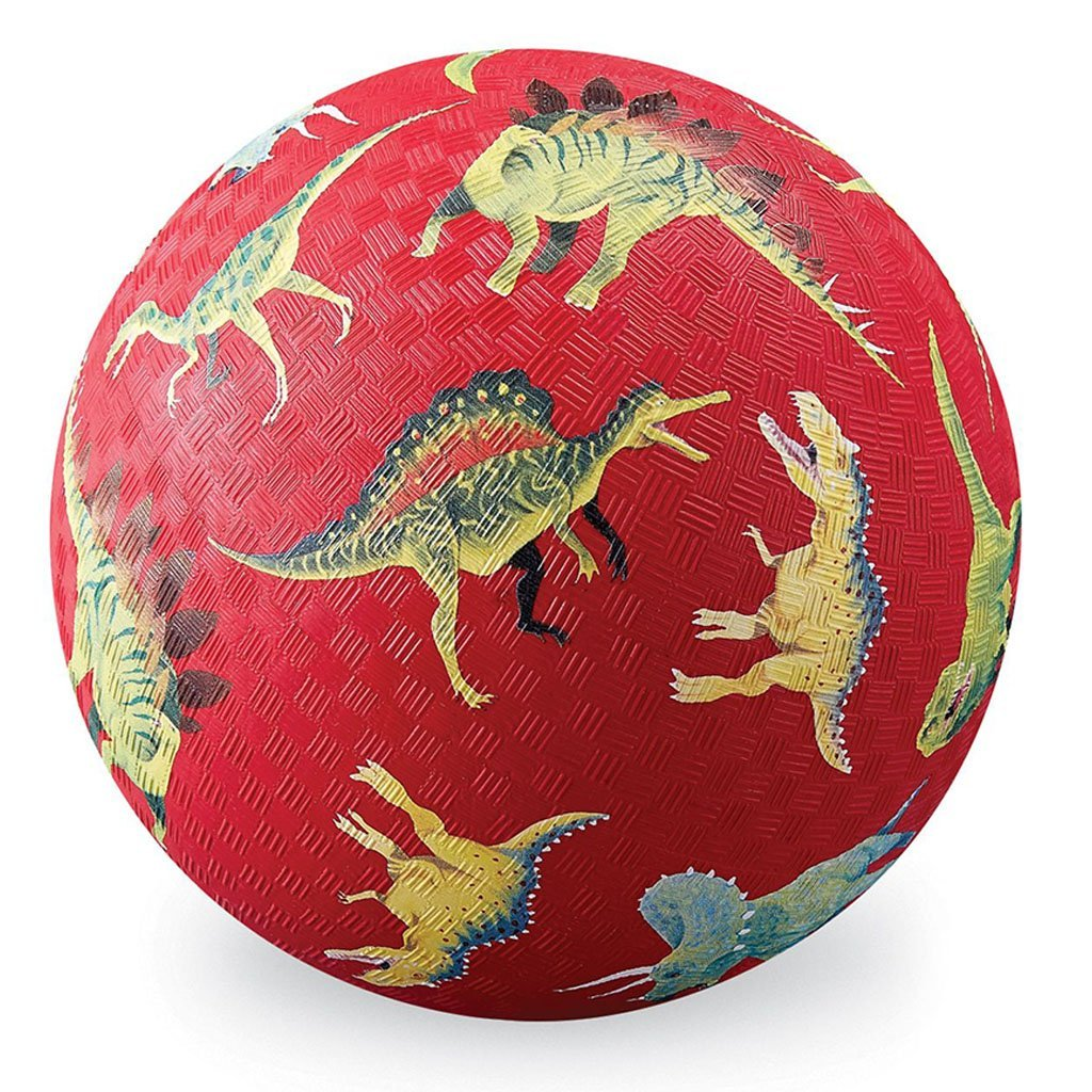 Bambinista-CROCODILE CREEK-Toys-13cm Playball - Dinosaurs Red