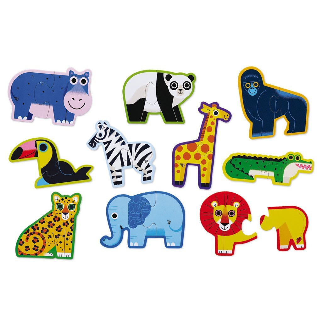 Bambinista-CROCODILE CREEK-Toys-Let's Begin Puzzle - Jungle