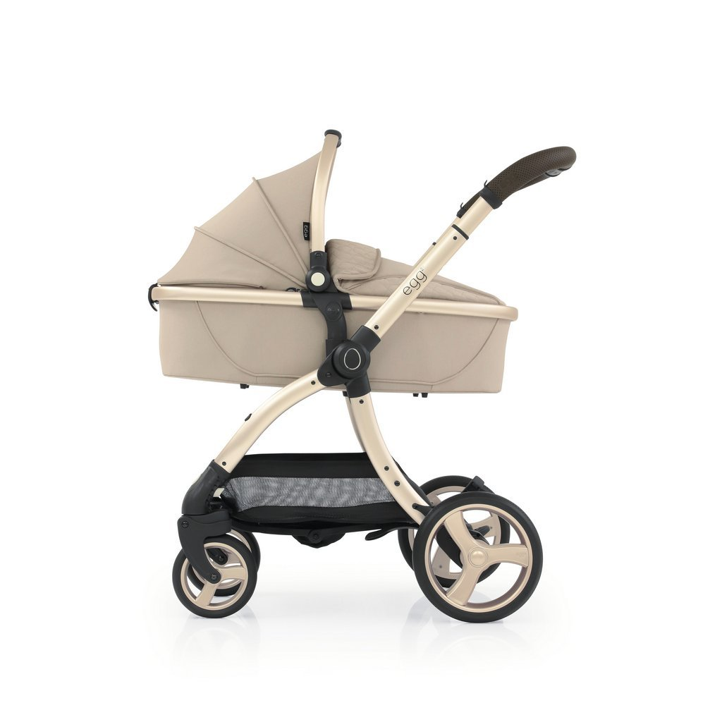 Bambinista-EGG-Travel-Egg 2 Carrycot - Feather (Champagne Frame)