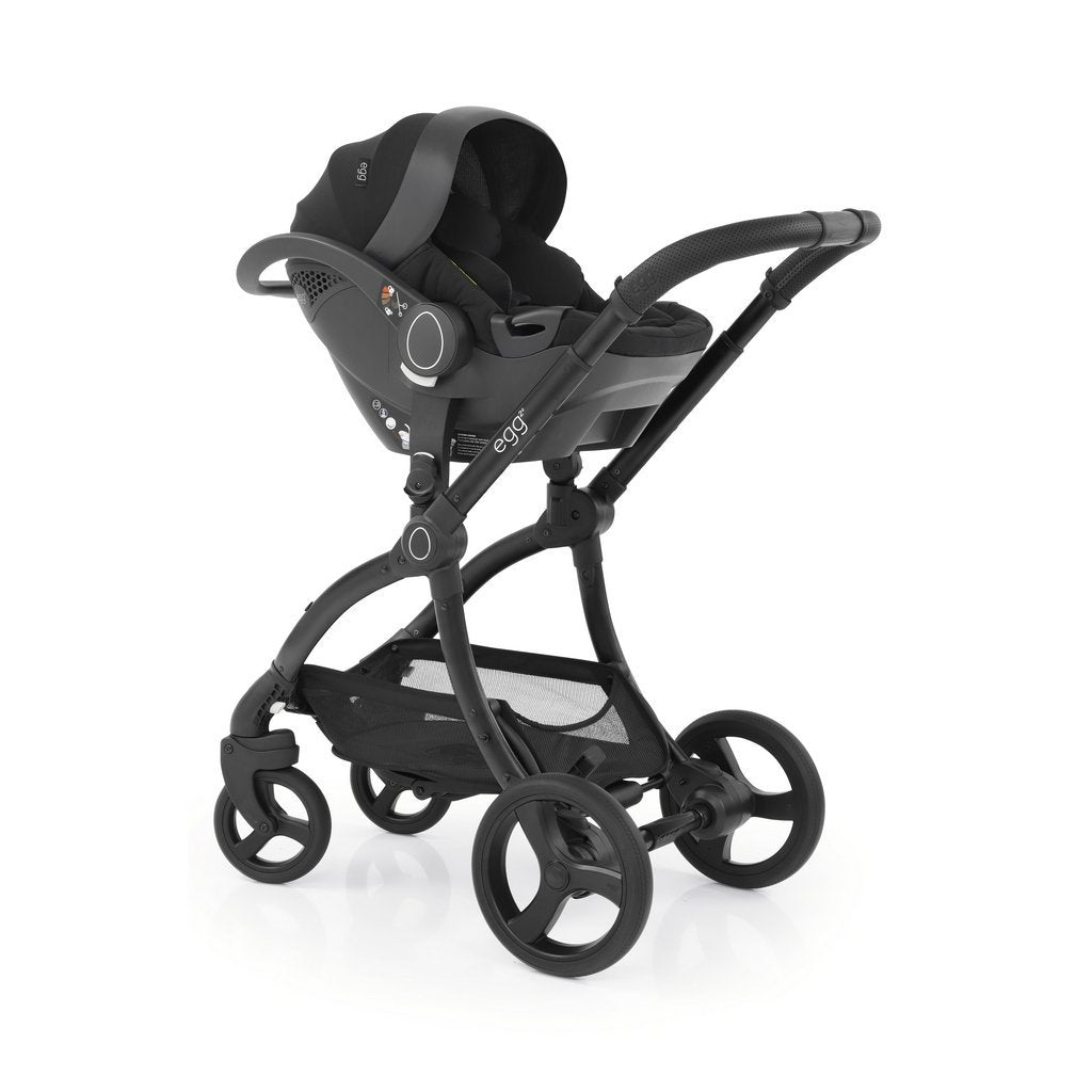 Bambinista-EGG-Travel-Egg 2 Luxury Bundle Special Edition with Egg Shell Car Seats - Just Black