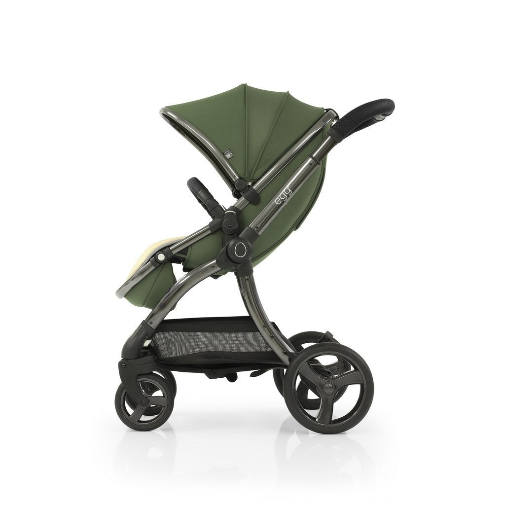 Bambinista-EGG-Travel-Egg 2 Luxury Bundle with Egg Shell Car Seats - Olive