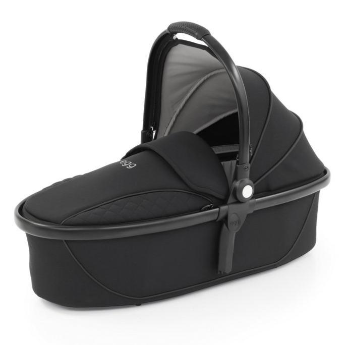 Bambinista-EGG-Travel-Egg 2 Special Edition Carrycot - Just Black (Matte Black Frame)