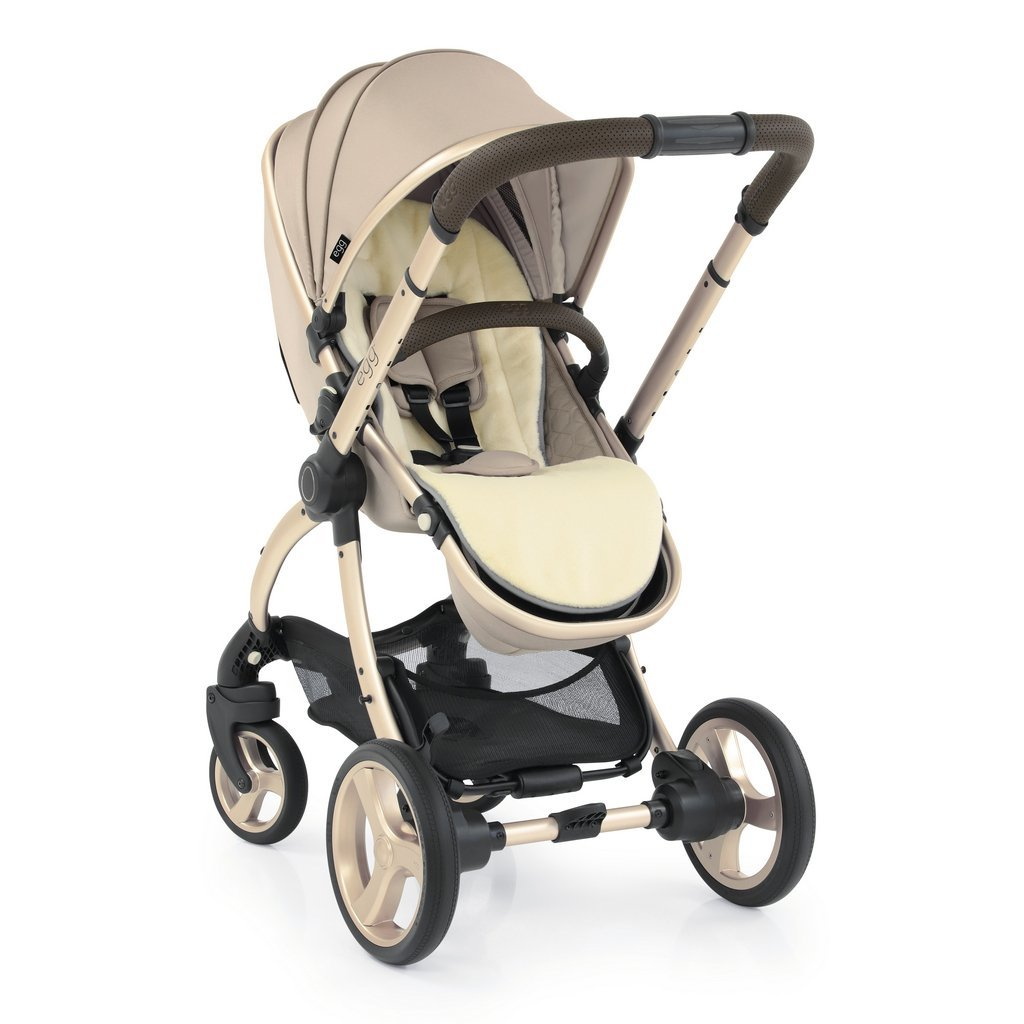 Bambinista-EGG-Travel-Egg 2 Stroller - Feather (Champagne Frame)