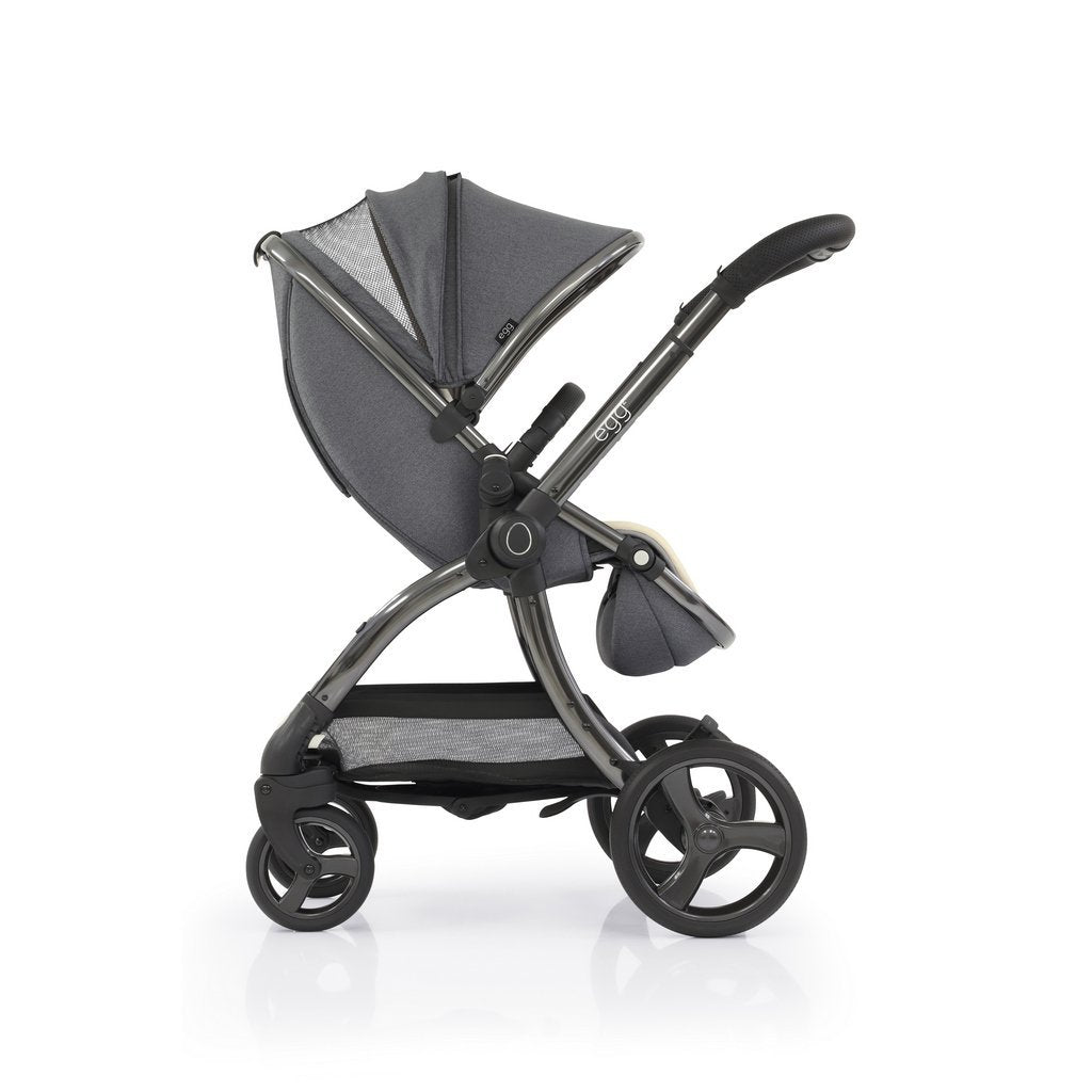 Bambinista-EGG-Travel-Egg 2 Stroller - Quartz (Gunmetal Grey Frame)