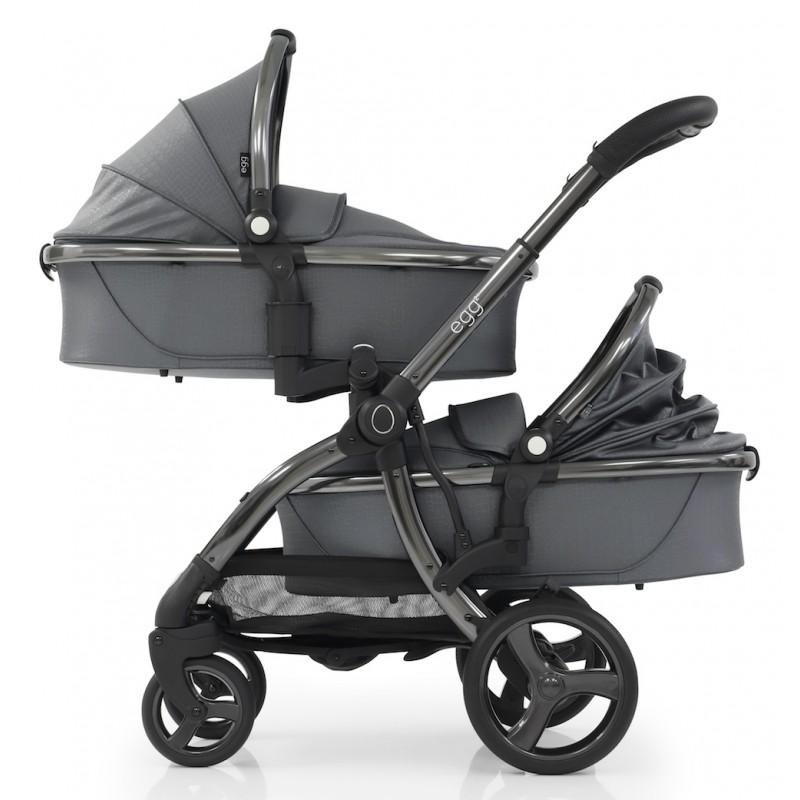 Bambinista-EGG-Travel-Egg 2 Tandem Seat - Jurassic Grey