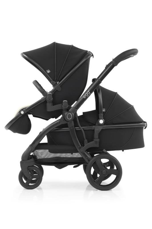Bambinista-EGG-Travel-Egg 2 Tandem Seat - Just Black