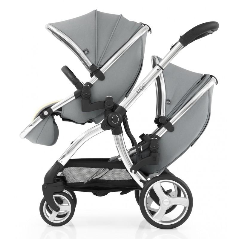 Bambinista-EGG-Travel-Egg 2 Tandem Seat - Monument Grey