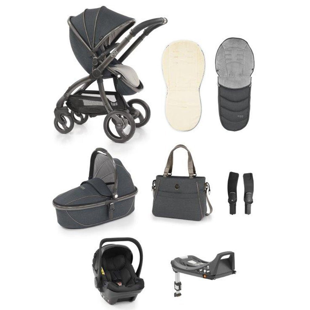 Bambinista-EGG-Travel-Egg Luxury Bundle - Carbon Grey