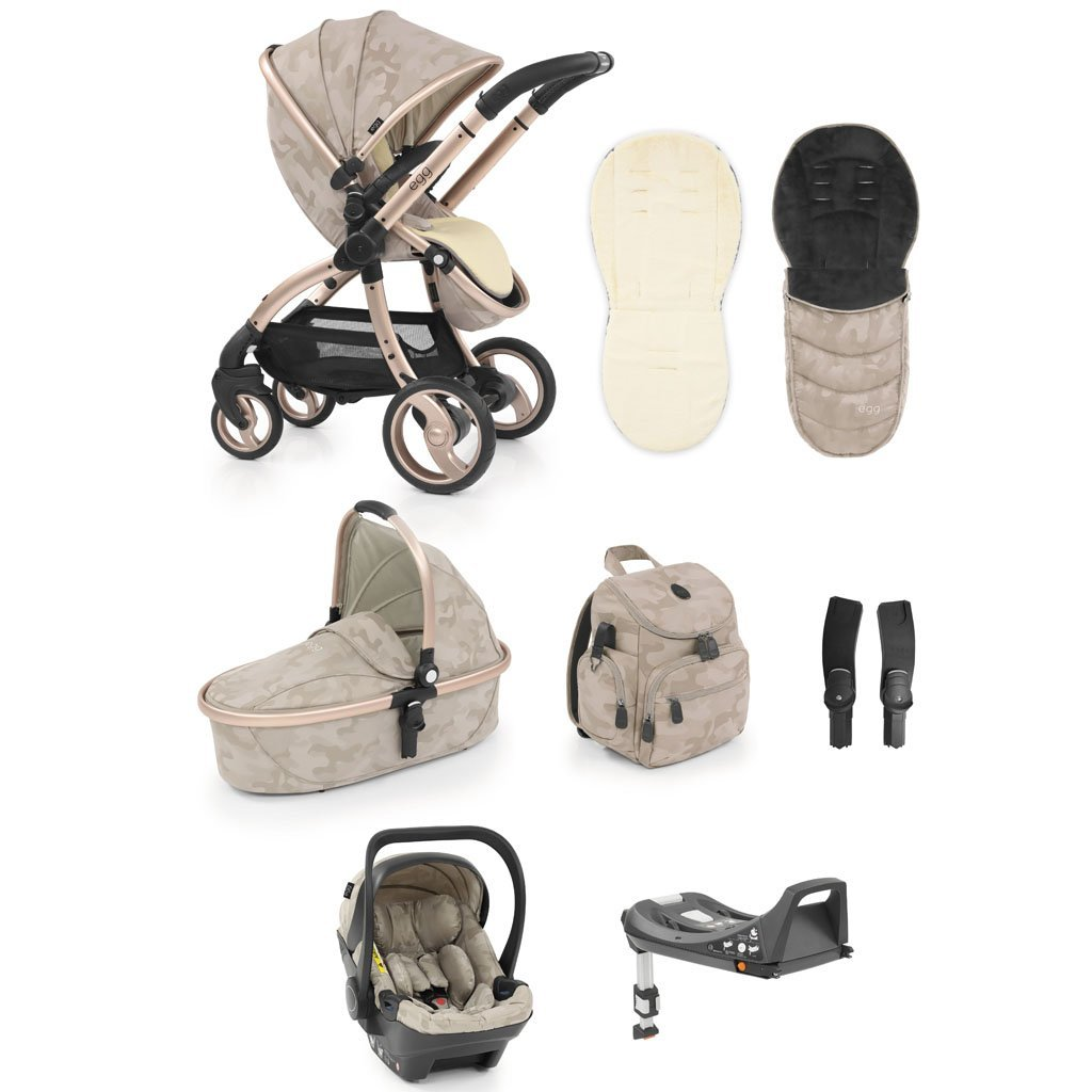 Bambinista-EGG-Travel-Egg Luxury Bundle Special Edition - Camo Sand